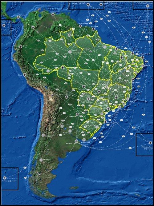 Tempo estimado de voo entre cidades brasileiras / Stimated flight time between Brazilian Cities