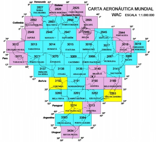 WAC - World Aeronautical Charts - Brasil