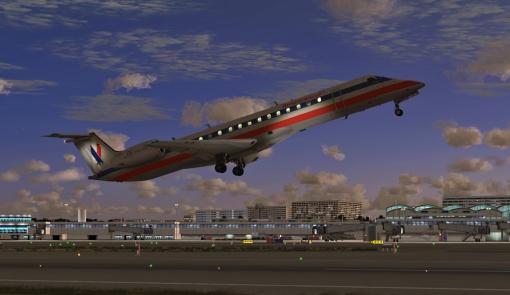 "American Airlines Eagle ERJ-145LR. Shot by ""Pontus T""."