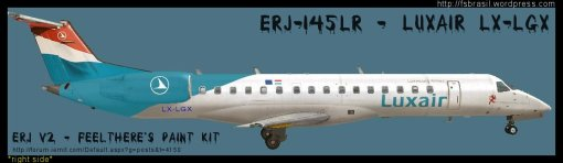 ERJ v2 145 Luxair LXLGX