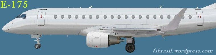 Embraer E-175 and E-195 freeware paintkit (E-Jet v2) | FS Brasil