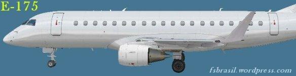 Embraer E-175 and E-195 freeware paintkit (E-Jet v2)   FS Brasil