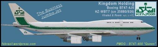 B744 - Kingdon Holding - Saudi Arabia (HZ-WBT7)