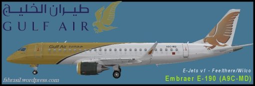 Repaint E190 Gulf-Air (A9C-MD)