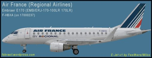 E170 Air France F-HBXA - Repaint of the real aircraft