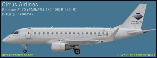 E170 Cirrus Airlines D-ALIE - Repaint of the real aircraft