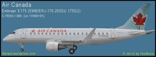 E175 Air Canada C-FEKD - Repaint of the real aircraft
