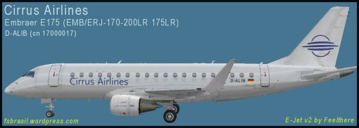 E175 Cirrus Airlines D-ALIB - Repaint of the real aircraft