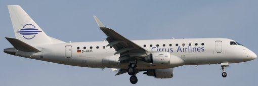 E175 Cirrus Airlines D-ALIB - Real aircraft