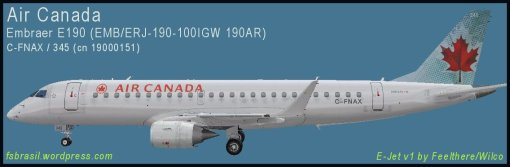 E190 Air Canada C-FNAX - Repaint of the real aircraft