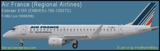 E190 Air France F-HBLI - Repaint of the real aircraft