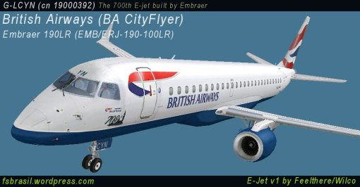 E190 BA CityFlyer G-LCYN - 700th E-Jet built by Embraer