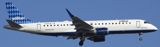 The E190 JetBlue N183JB - Alias of the E195 repaint here presented