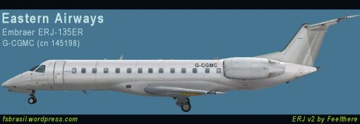 ERJ135 Eastern-Airways Repaint (G-CGMC)