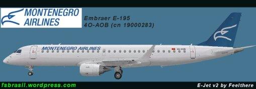 Embnraer E-195 // Montenegro Airlines (4O-AOB / cn 19000283)